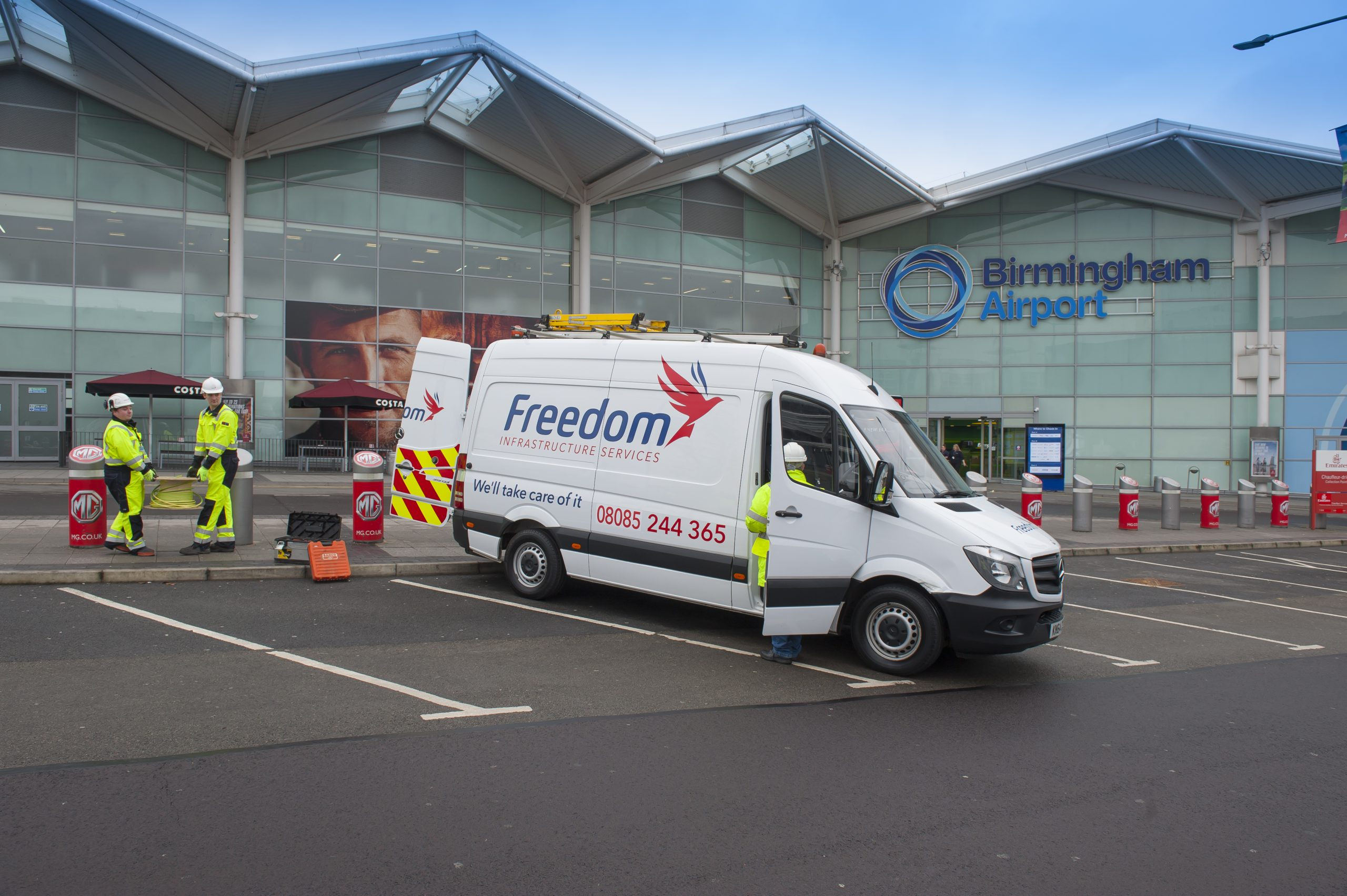 Freedom Group operate at Birmingham Airport